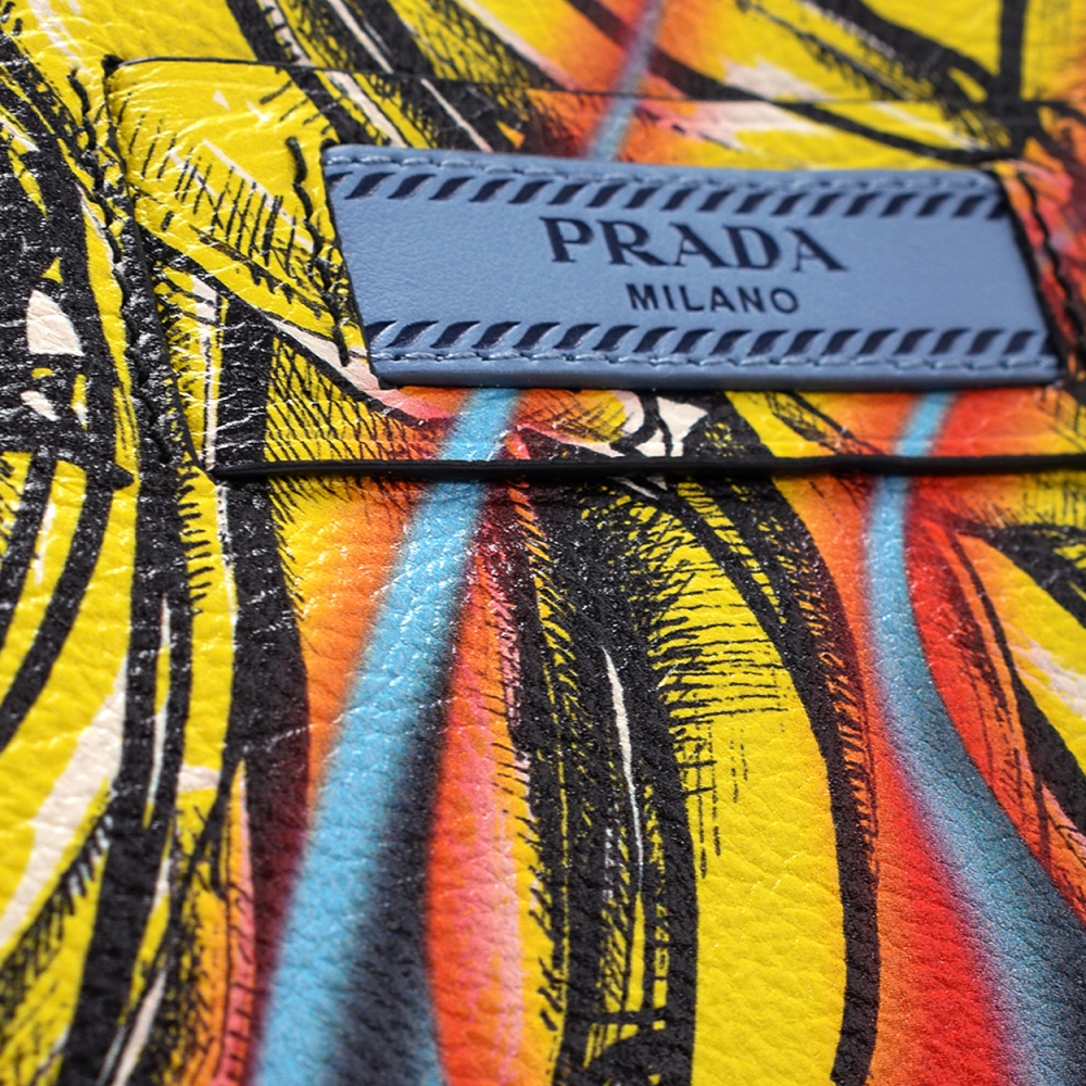 Prada - Multicolor Leather Bananas and Flames Clutch and Messenger Bag