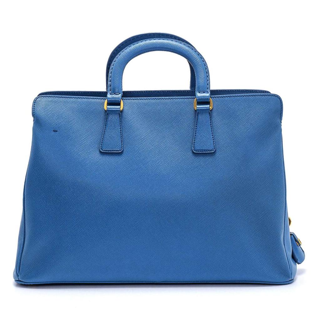 Prada - Blue Saffiano Leather Hand Bag