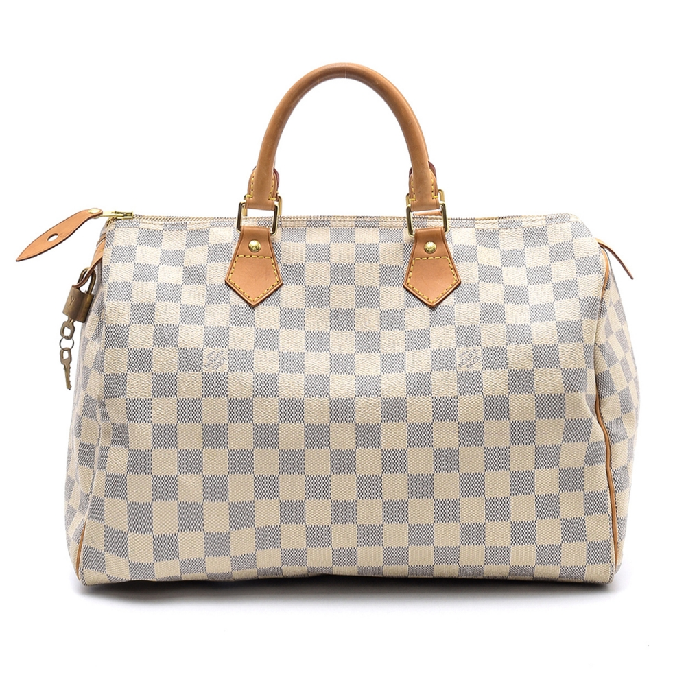 Louis Vuitton - Damier Azur Canvas Leather Speedy 30 Bag