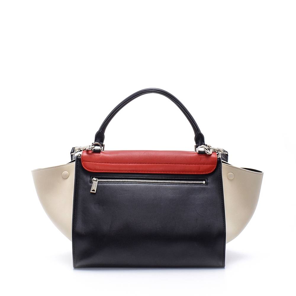 Celine - Tricolor Leather Medium Trapeze Bag