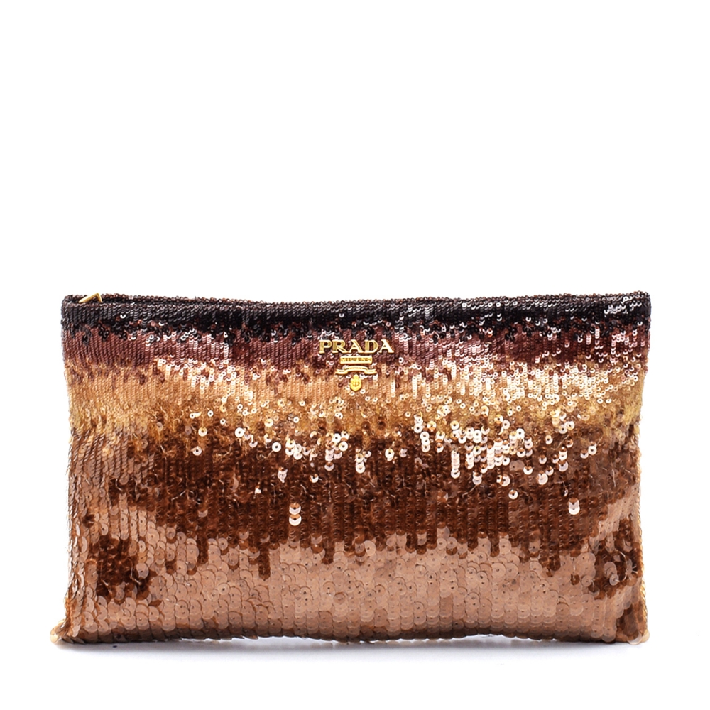 Prada - Brown Degrade Sequin Clutch