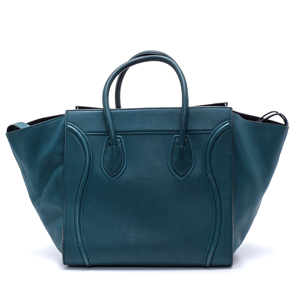 Celine - Emerald Leather Phantom Luggage Medium Tote Bag
