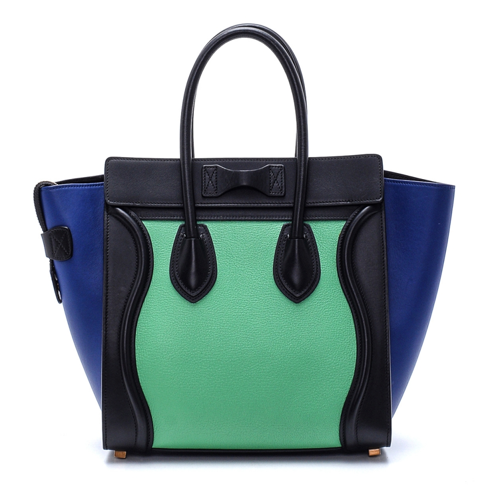 Celine - Tricolor  Leather  Small Luggage Tote Bag