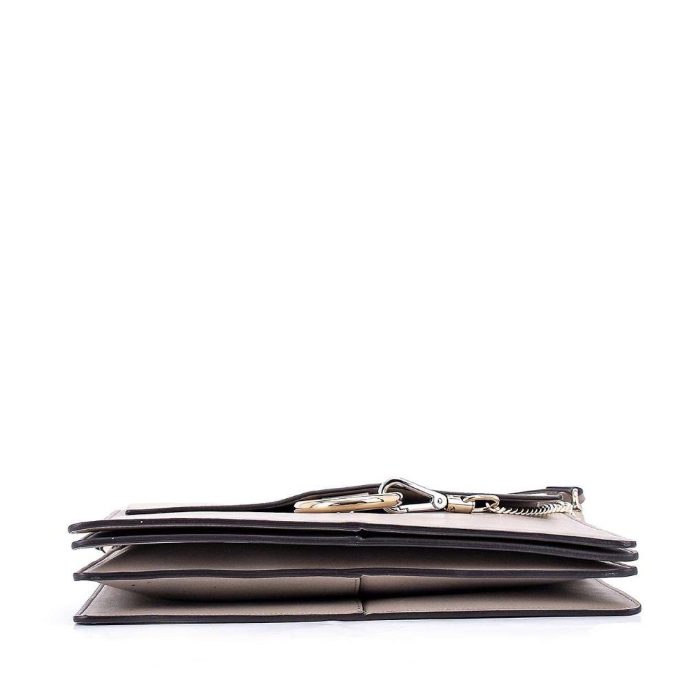 Chloe - Grey Leather and Suede Medium Faye Messenger Bag