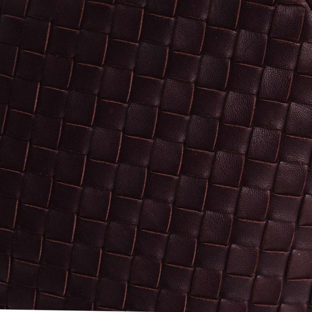 Bottega Veneta -bordeaux Intrecciato Nappa Medi̇um Top Handle Bag