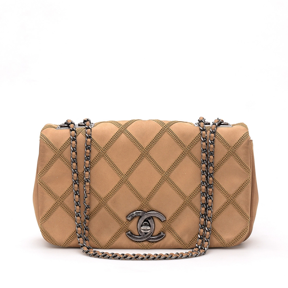Chanel -  Toffie  Quilted Lambskin Small Classic Single Flap Bag