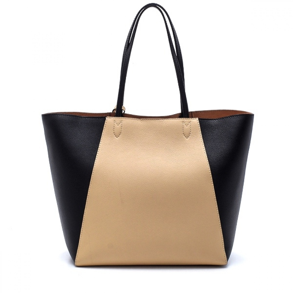 Louis Vuitton - Black and Vanille Leather Lockme Cabas Tote Bag