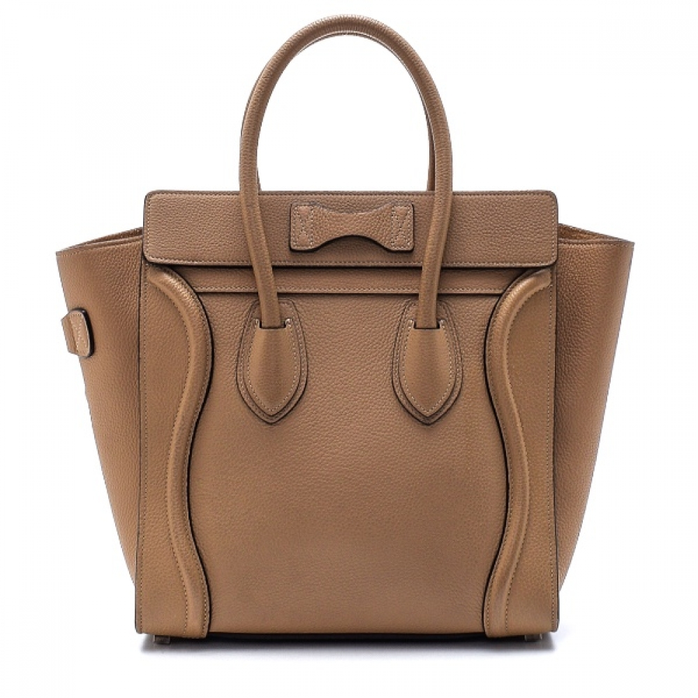 Celine - Etoupe Leather Small Luggage Bag