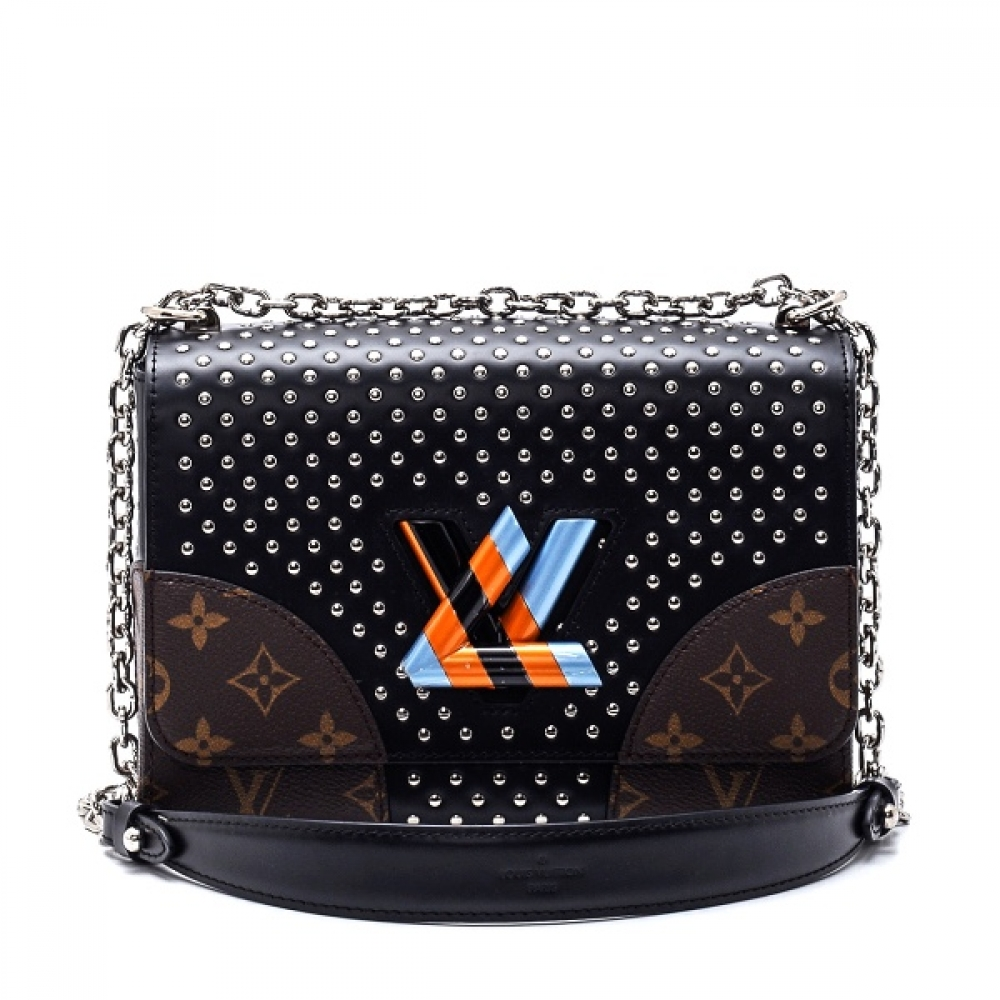 Louis Vuitton - Black/Monogram Canvas and Leather Limited Edition Coin Sted Twist MM Bag