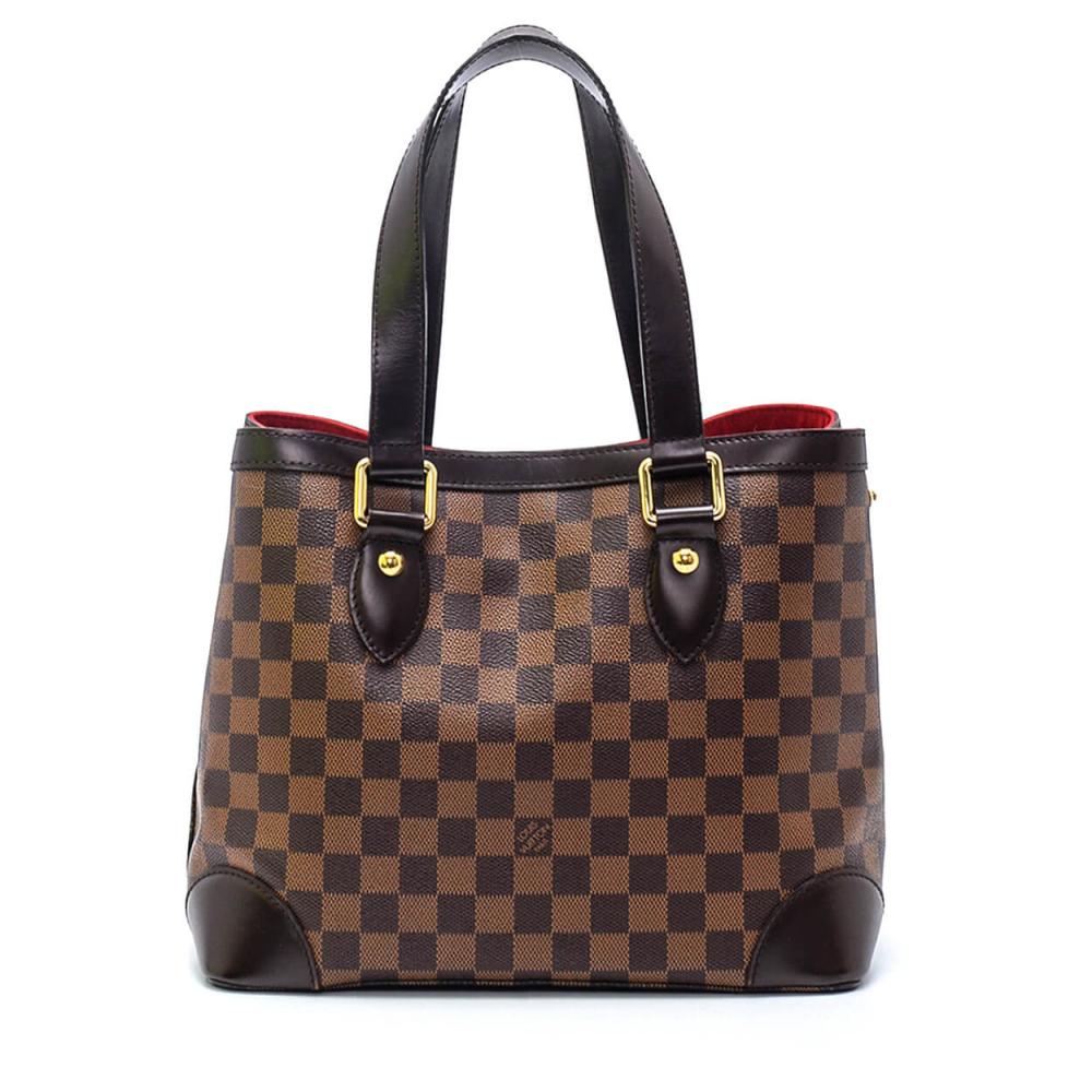 Louis Vuitton - Damier Ebene Canvas Leather Hampstead PM Shoulder Bag