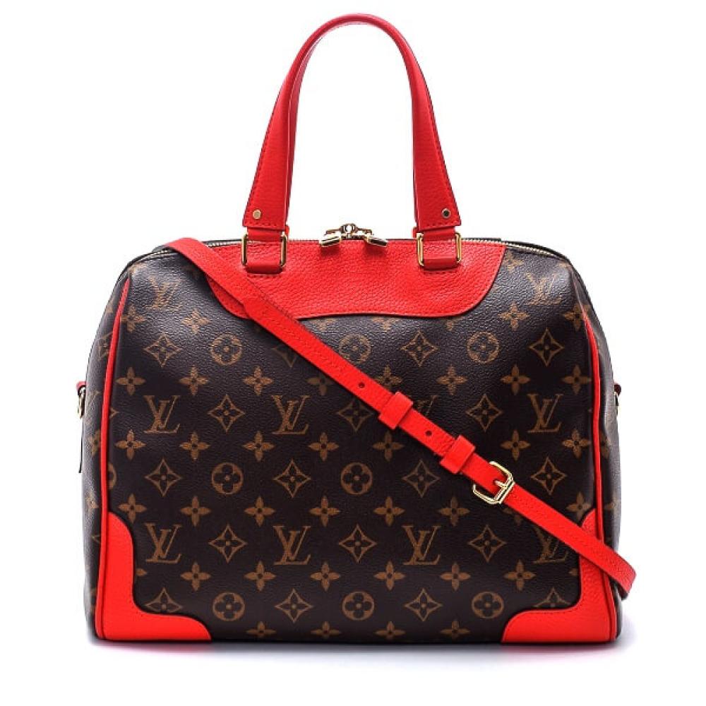 Louis Vuitton - Monogram Coquelicot Canvas Leather Retiro Bag
