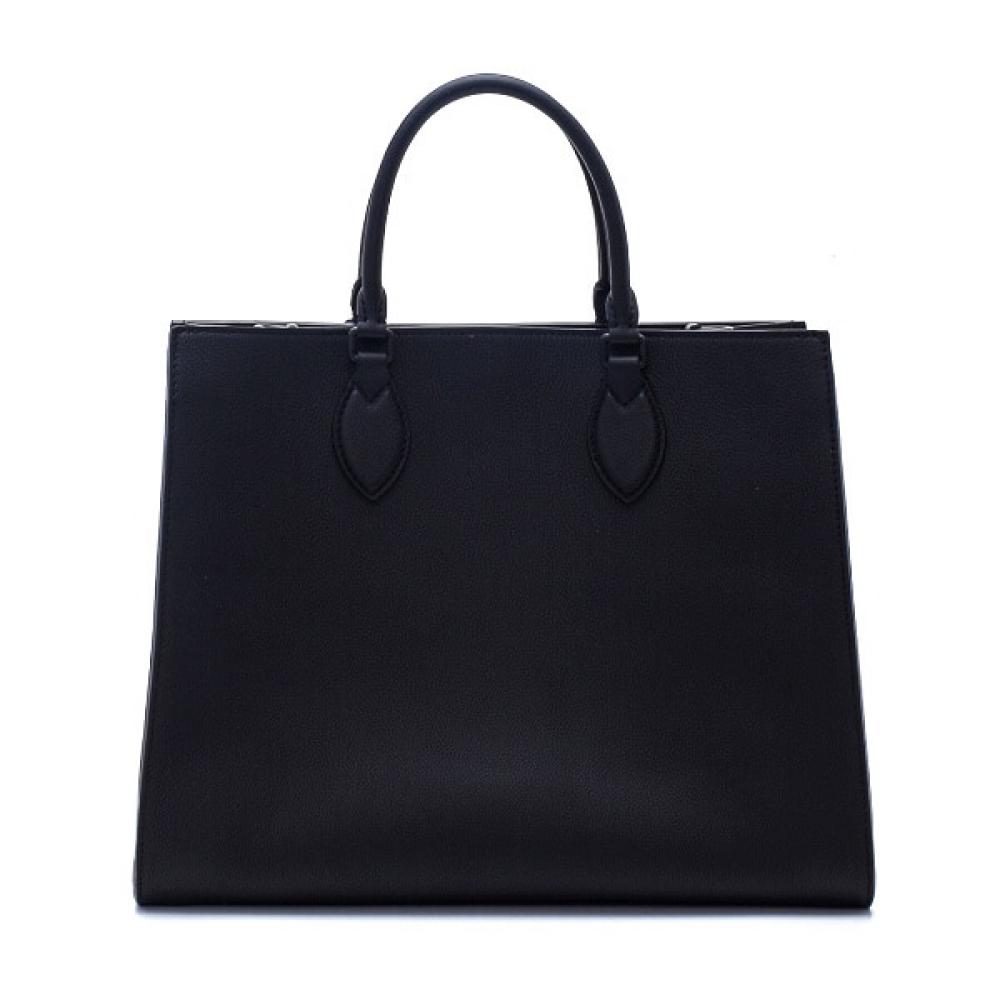 Louis Vuitton - Black Calfskin Leather LockMe Tote Handbag