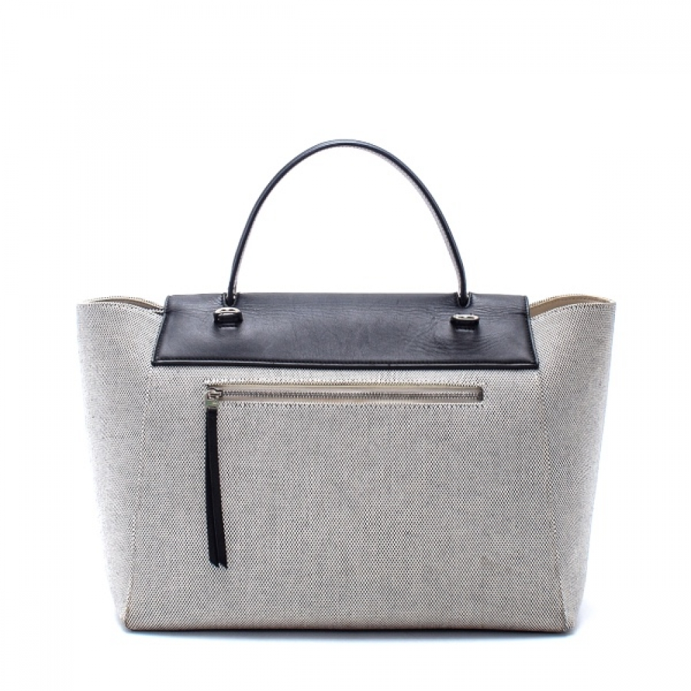 Celine - Black Leather and Canvas Medium Belt Bag