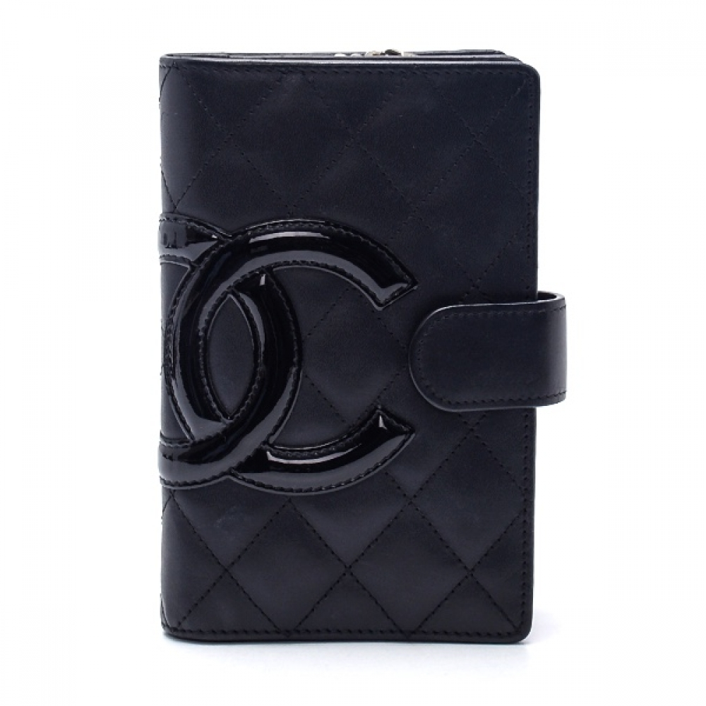 Chanel - Black Quilted Calfskin Leather CC Cambon Wallet