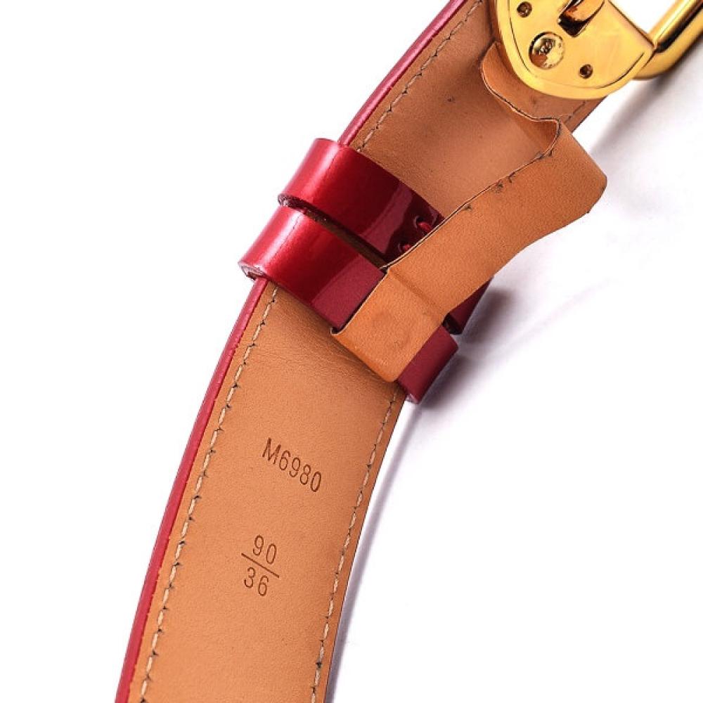 Louis Vuitton - Red Vernis Leather Monogram Belt