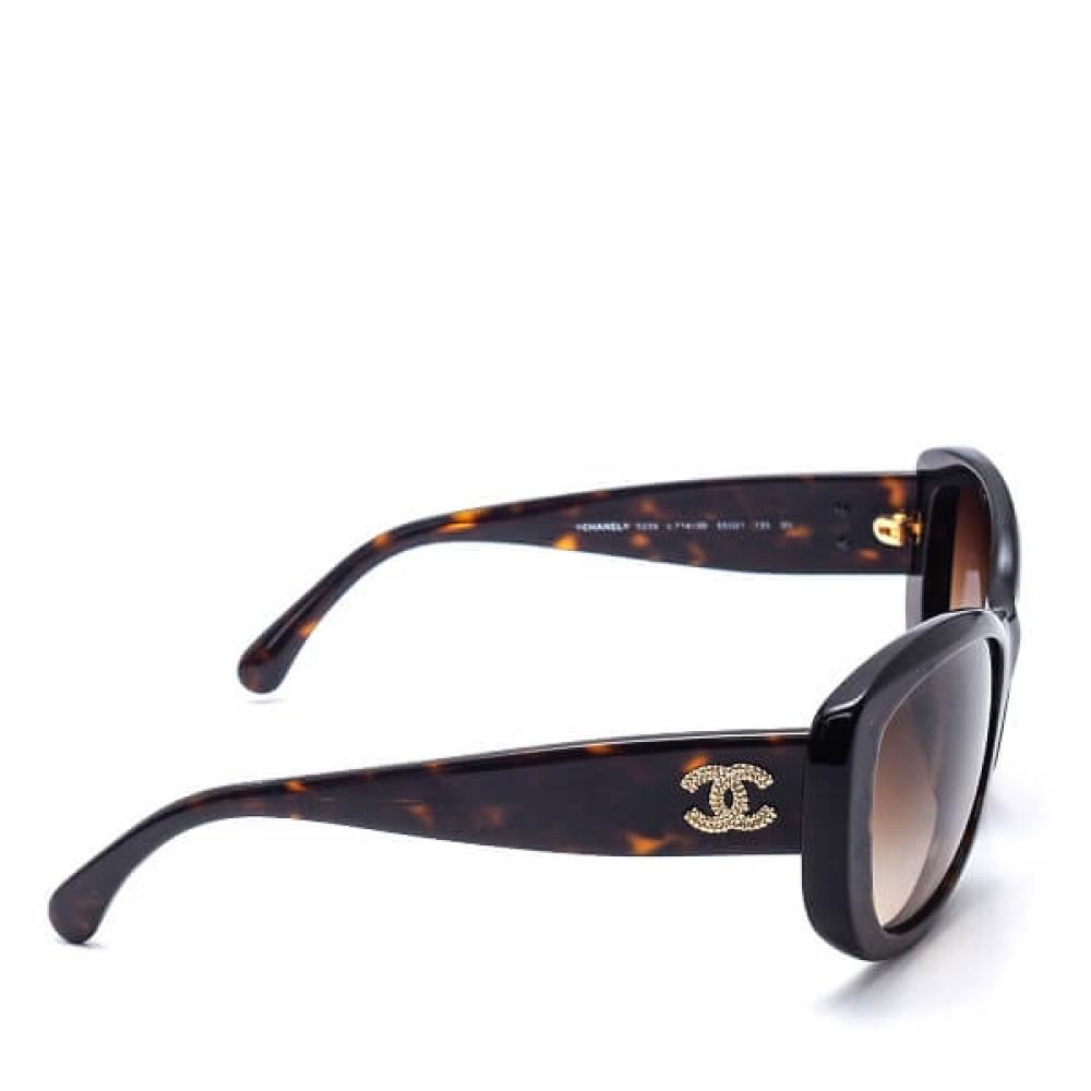 Chanel - Rectongle Havana Brown Gradrent Sunglasses