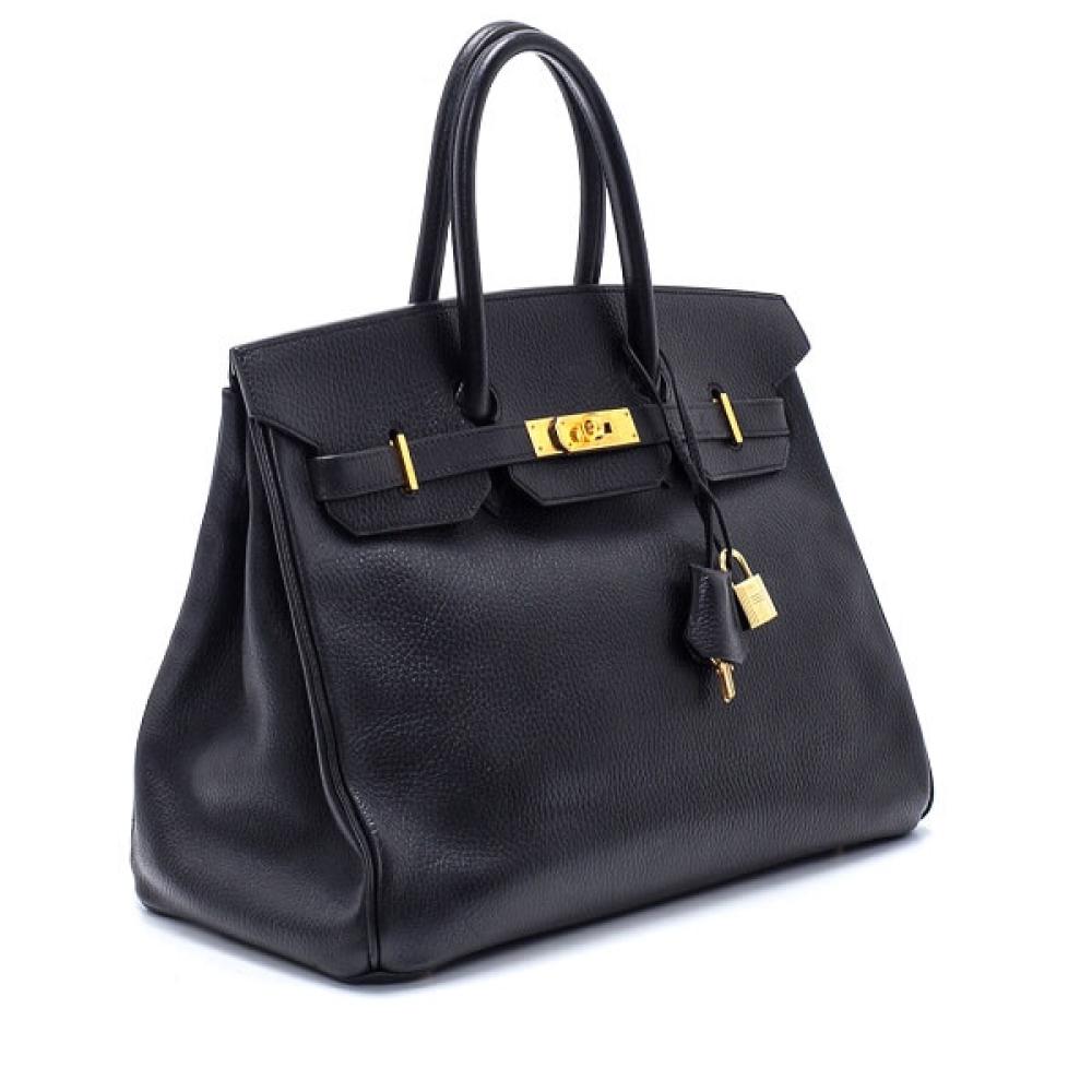Hermes - Black Ardennes Leather Birkin 35 Bag